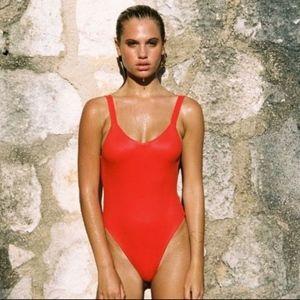 Vitamin A Leah Bodysuit One Piece Swimsuit